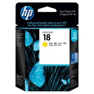 Jual HP 18 Yellow Ink Cartridge